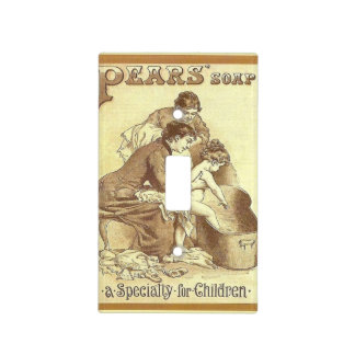 Retro vintage advertising, Pears soap Light Switch Cover