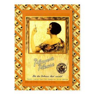 Retro vintage advertising, Players Please, tobacco Postcard