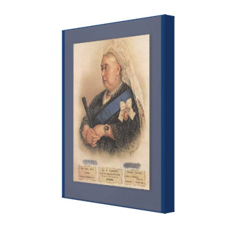 Retro vintage advertising, Queen Victoria Canvas Print