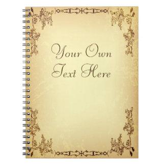 Retro Vintage Aged Paper Notebook