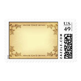 Retro Vintage Aged Paper Postage Stamps