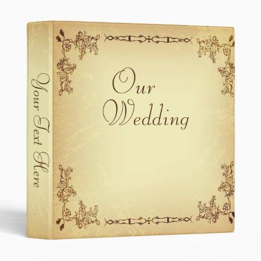 Retro Vintage Aged Paper Wedding Photo Album Binders