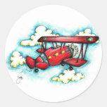 Retro Vintage Airplane Stickers