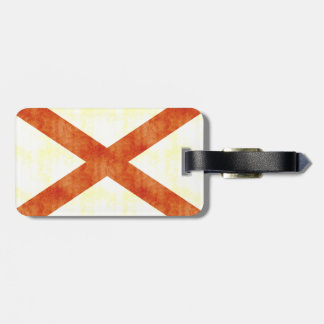 Retro Vintage Alabama Flag Bag Tag