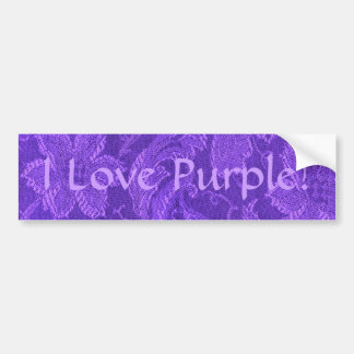 Retro Vintage Amethyst Purple Bumper Sticker Car Bumper Sticker