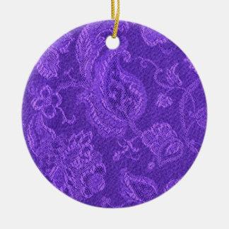 Retro Vintage Amethyst Purple Circle Ornament