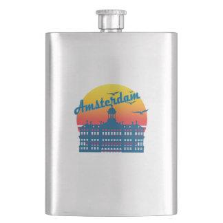 Retro Vintage Amsterdam Sunset, #Amsterdam Flask