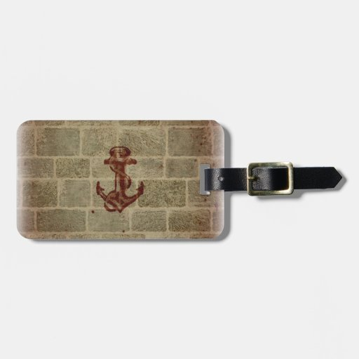 Retro Vintage Anchor Pattern Luggage Tag