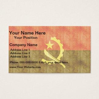Retro Vintage Angola Flag Business Card