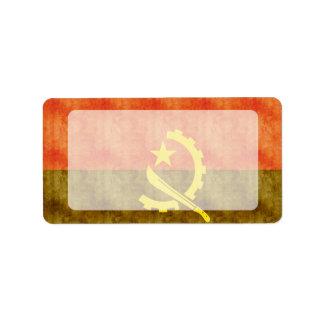 Retro Vintage Angola Flag Label