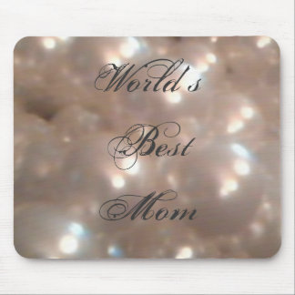 Retro Vintage Antique Pearls Elegant Best Mom Mouse Pad