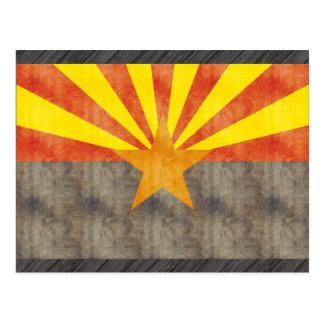 Retro Vintage Arizona Flag Postcard