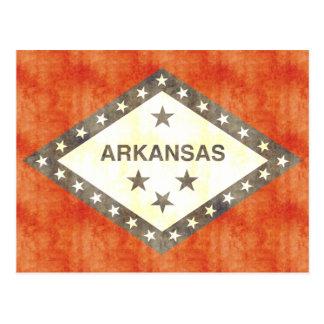 Retro Vintage Arkansas Flag Postcard