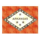 Retro Vintage Arkansas Flag Postcards