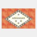 Retro Vintage Arkansas Flag Rectangle Stickers