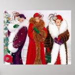 "Retro vintage art deco Christmas ladies poster<br><div class=""desc"">design by www.etsy.com/Shop/VanityFlairDesign</div>"