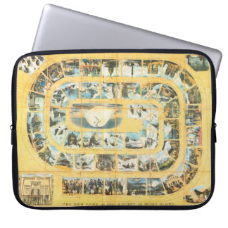 Retro Vintage Ascent of Mont Blanc board game Laptop Sleeves
