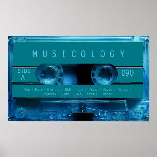 Retro vintage audio style cassette cover poster