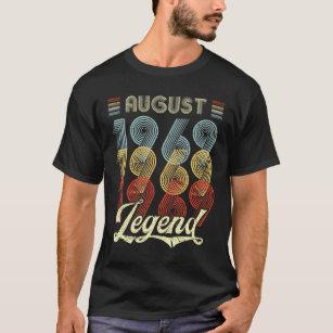 Retro Vintage August 1969 Legend 50th Birthday T Shirt