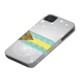 Retro Vintage Bahamas Flag iPhone 4 Case-Mate Case
