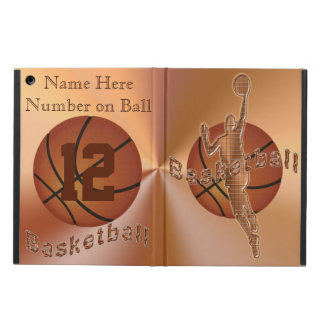 Retro Vintage Basketball iPad Cases NAME, NUMBER