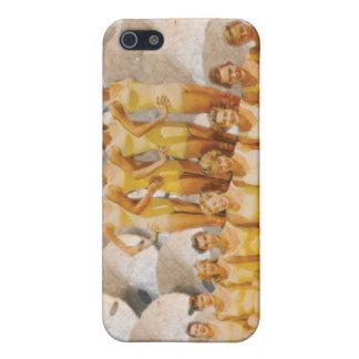 Retro Vintage Bathing Beauties on Sand Dollars iPhone 5 Cases