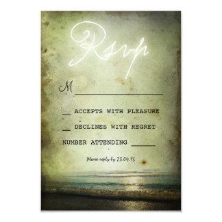 retro vintage BEACH WEDDING RSVP CARDS