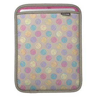 Retro vintage beige colorful dots funny marries | iPad sleeves