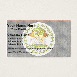 Retro Vintage Belize Flag Business Card