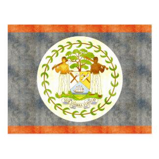 Retro Vintage Belize Flag Postcard