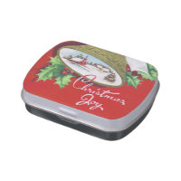 Retro Vintage bells Christmas Holiday party tin