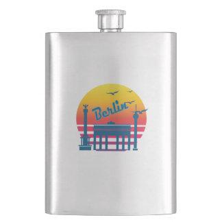 Retro Vintage berlin Sunset, #berlin Flask