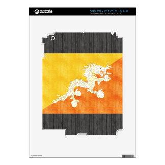 Retro Vintage Bhutan Flag Decals For iPad 3