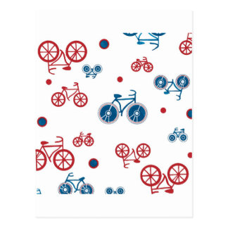 Retro Vintage Bicycle design Postcard