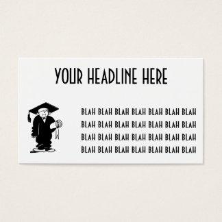 Retro Vintage Black & White Funny Graduation Boy Business Card