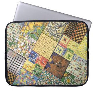 Retro vintage board games laptop sleeves