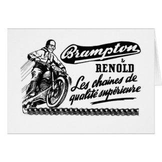 Retro Vintage Brampton Renold Motorcycle Card