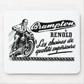 Retro Vintage Brampton Renold Motorcycle Mouse Pad