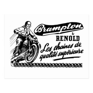 Retro Vintage Brampton Renold Motorcycle Postcard