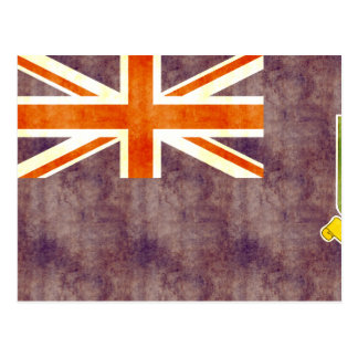 Retro Vintage British Virgin Islands Flag Postcard