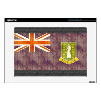 Retro Vintage British Virgin Islands Flag Decal For Laptop