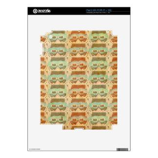 Retro Vintage Brown glasses Pattern iPad 2 Decals