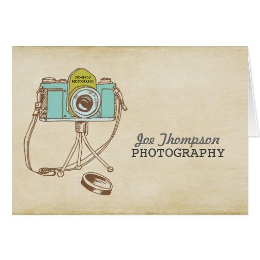 Retro Vintage Camera Photographer Thank You Card