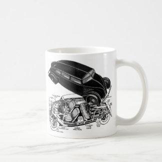 Retro Vintage Car 30's Rear-Engine Futuristic Auto Coffee Mug