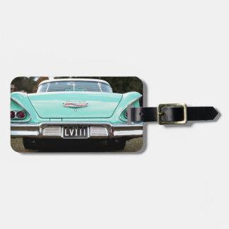 Retro vintage car bag tag