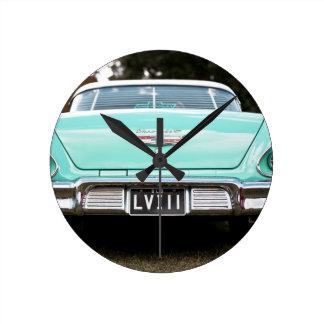 Retro vintage car round clock