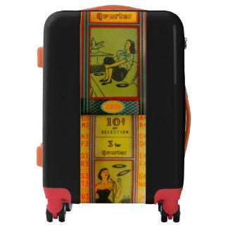 Retro Vintage Carry On! Add Initials! jukebox! Luggage