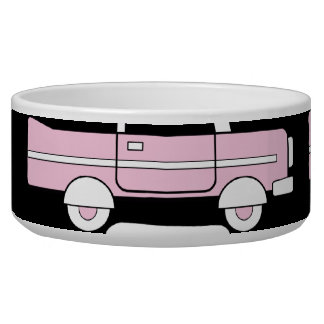 Retro Vintage Cars Pink Red Turquoise Blue Hot Rod Bowl