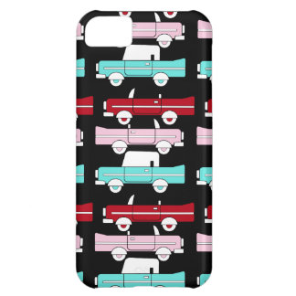 Retro Vintage Cars Pink Red Turquoise Blue Hot Rod iPhone 5C Cover
