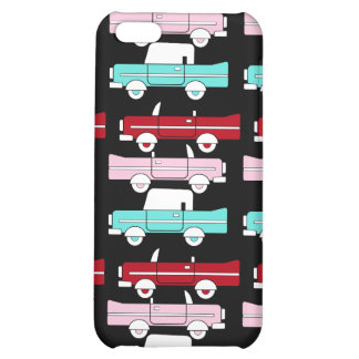 Retro Vintage Cars Pink Red Turquoise Blue Hot Rod iPhone 5C Case